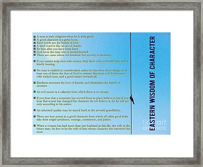 Eastern   Wisdom   Of   Character Framed Print by Celestial Images