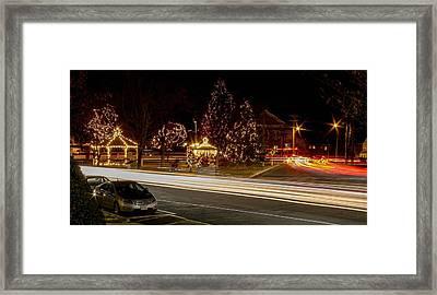 Easthampton Light Trails Framed Print