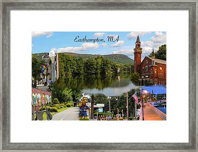 Easthampton Ma Collage Framed Print