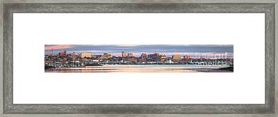 Eastland - Portland Panorama Framed Print by Benjamin Williamson