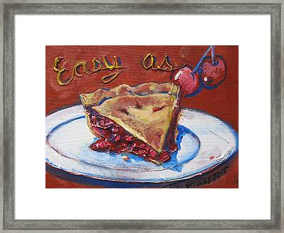 Framed Print featuring the painting Easy As Pie by Tilly Strauss