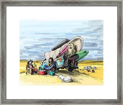 Easy Breezy Framed Print by Ryan Stolp