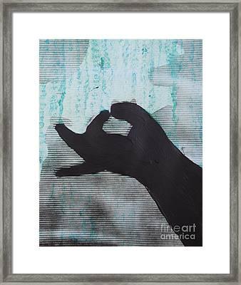 Easy Green Framed Print by Sean-Michael Gettys