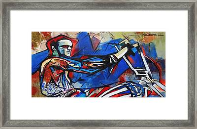 Framed Print featuring the painting Easy Rider Captain America by Eric Dee