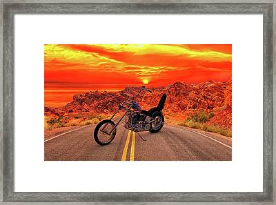 Framed Print featuring the photograph Easy Rider Chopper by Louis Ferreira