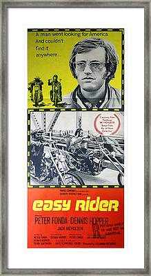 Easy Rider Movie Lobby Poster  1969 Framed Print