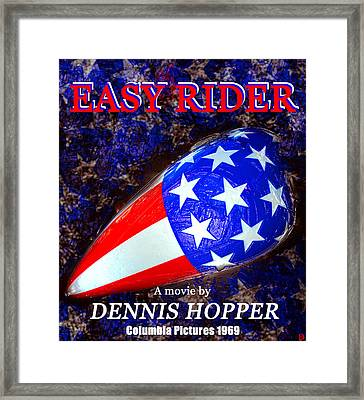 Easy Rider Movie Poster A Framed Print by David Lee Thompson