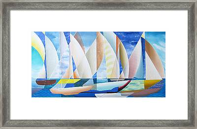 Framed Print featuring the painting Easy Sailing by Douglas Pike