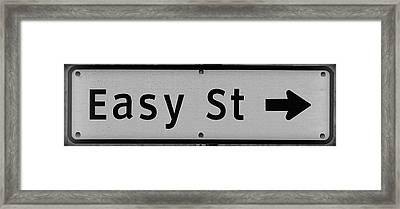 Easy Street Framed Print