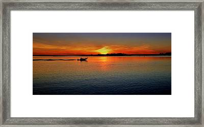 Easy Sunday Sunset Framed Print