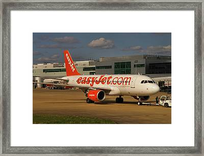 Framed Print featuring the photograph Easyjet Airbus A319-111  by Tim Beach