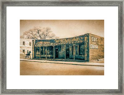 Framed Print featuring the photograph Eat And Drink by Lou Novick