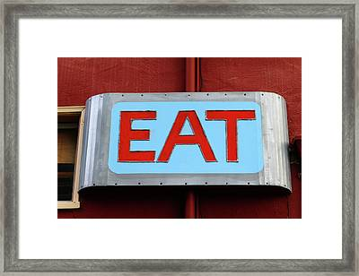 Eat Framed Print by Art Block Collections