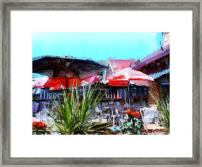 Eat At Joe's Framed Print by Methune Hively