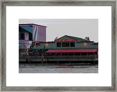 Eat At Joes Framed Print by Suzanne Gaff