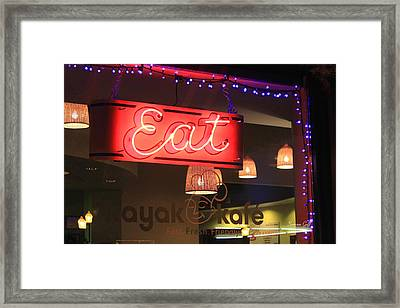 Eat At The Kayak Kafe Framed Print by Suzanne Gaff