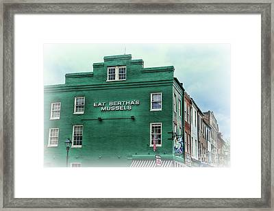 Framed Print featuring the photograph Eat Berthas Mussels  by Paul Ward