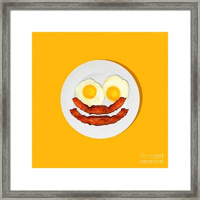 Eat Breakfast And Smile All Day Ora Framed Print by Wingsdomain Art and Photography