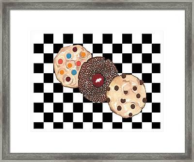 Eat Cookies Framed Print
