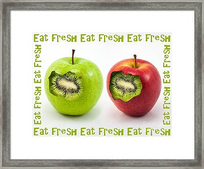 Eat Fresh Framed Print