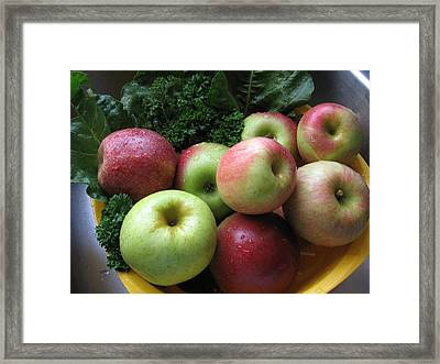 Framed Print featuring the photograph Eat Healthy Stay Healthy by Deb Martin-Webster