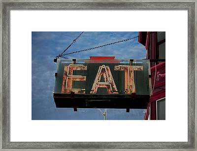Eat Framed Print