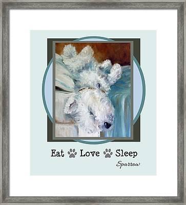 Eat Love Sleep Framed Print