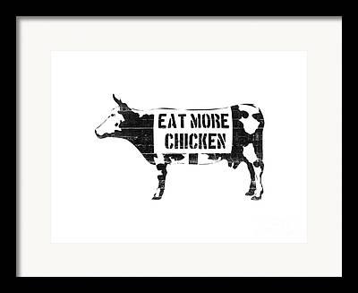 Vegetarian Digital Art Framed Prints