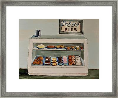Framed Print featuring the painting Eat More Pie by Lindsay Frost