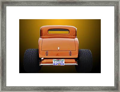 Eat My Dust Framed Print