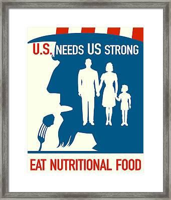 Eat Nutritional Food Framed Print