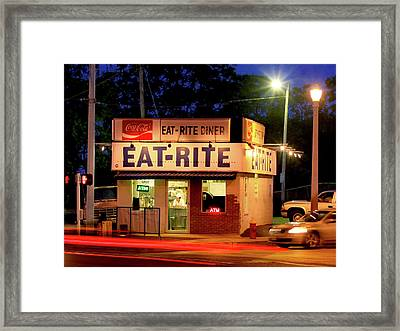 Eat Rite Diner St Louis Framed Print