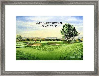 Eat Sleep Dream Play Golf - Carnoustie Golf Course Framed Print by Bill Holkham