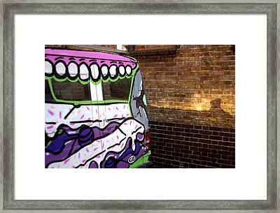 Eat That Wall Framed Print by Jez C Self