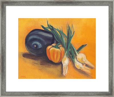 Framed Print featuring the painting Eat Your Vegetables by Shawna Rowe