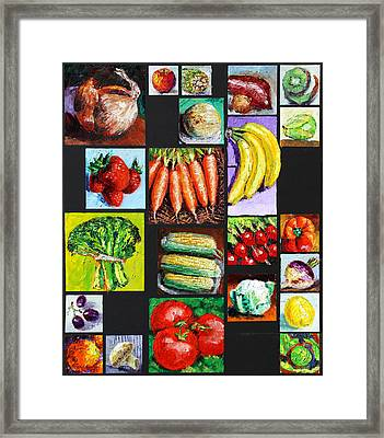 Eat Your Vegies And Fruit Framed Print by John Lautermilch