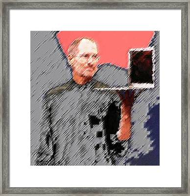 Eaten Apple Of Steve Jobs Framed Print