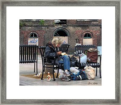Eating Alone Is A Disappointment .... Framed Print