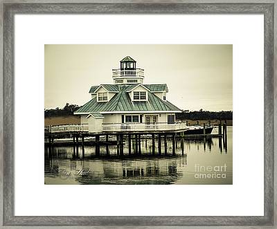 Eating On The River Framed Print by Melissa Messick
