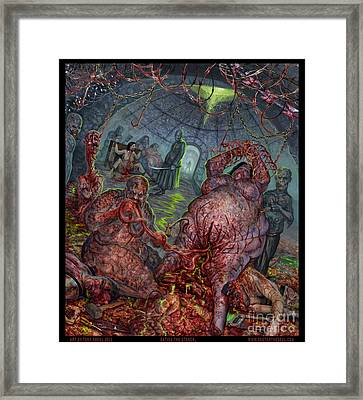 Eating The Stench Framed Print