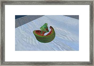 Eating Watermelon Framed Print by Thomas Smith