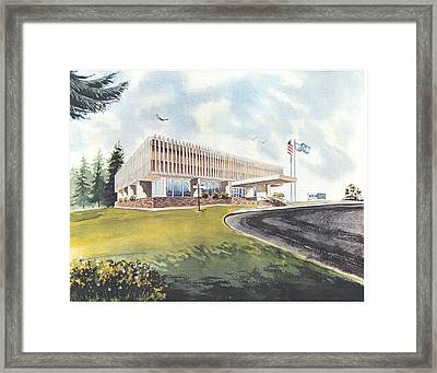 Eaton Corp Administration Building Framed Print
