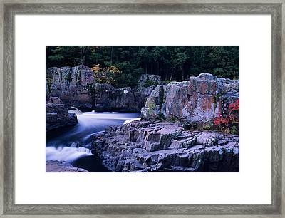 Eau Claire Dells 1 Framed Print by Peter Skiba