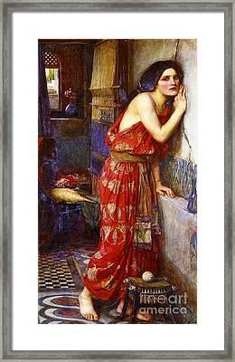 Eavesdropping 1909 Framed Print
