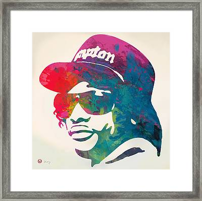 Eazy-e Pop  Stylised Pop Art Poster Framed Print by Kim Wang