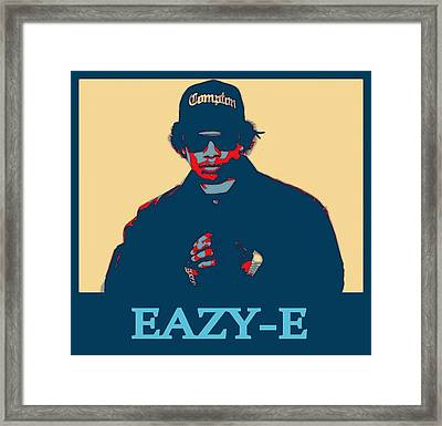 Eazy E Poster Framed Print by Dan Sproul