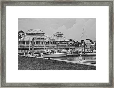 Eb And Flo's Steam Bar Framed Print by Betsy Knapp