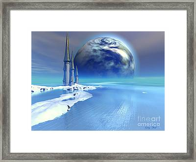 Ebb And Flow Framed Print by Corey Ford