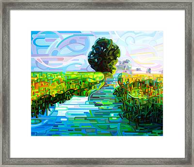 Ebb And Flow Framed Print by Mandy Budan