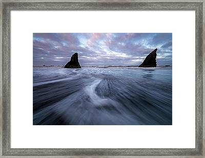 Framed Print featuring the photograph Ebb And Flow by Mike Lang
